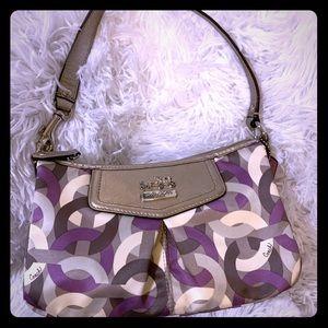 Coach c1068-43315 Multi w/Champagne Leather Bag